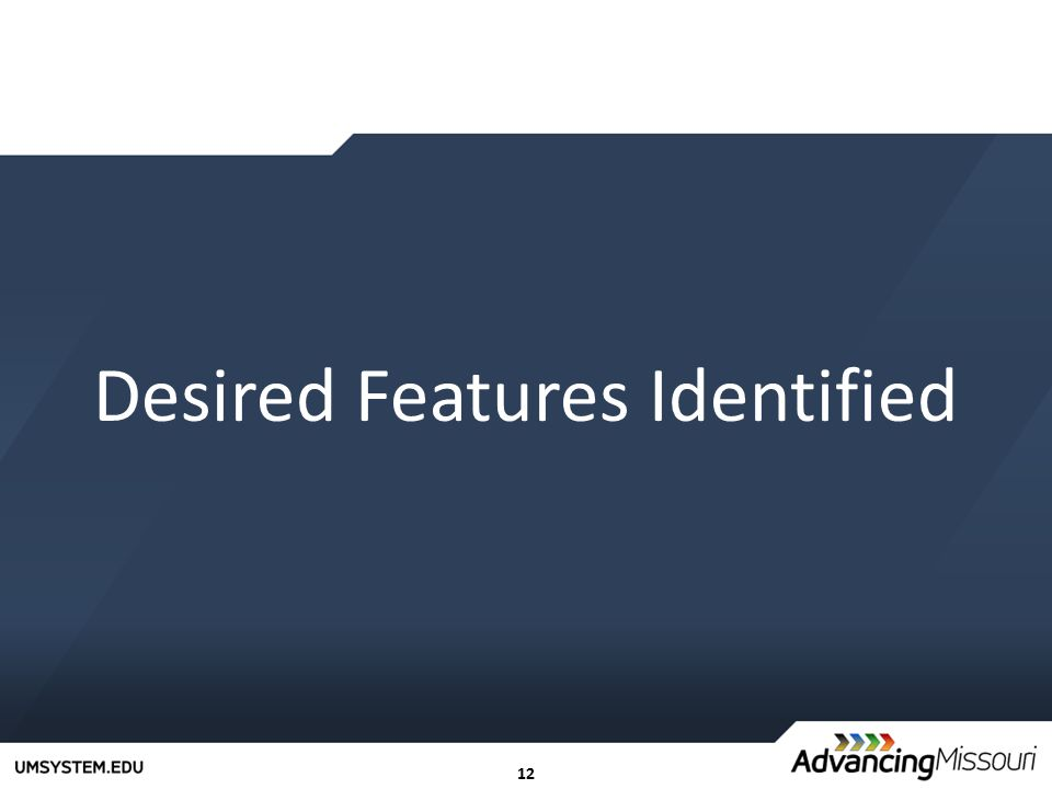 12 Desired Features Identified