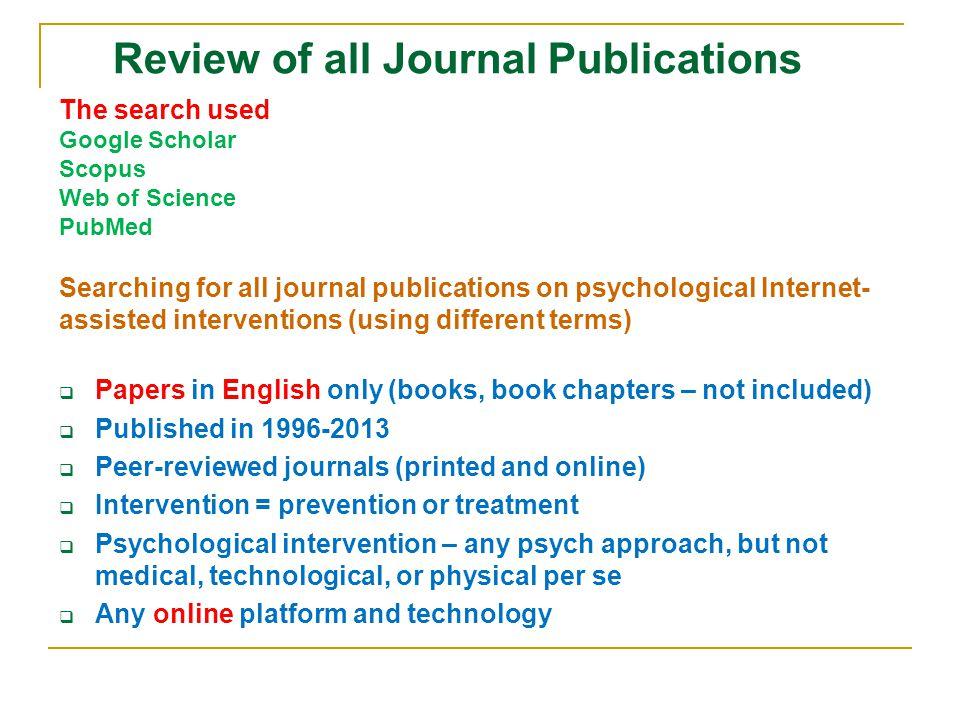 Per Carlbring Pim Cuijpers Helen Christensen Kathy Griffiths The Most Publishing Scholars
