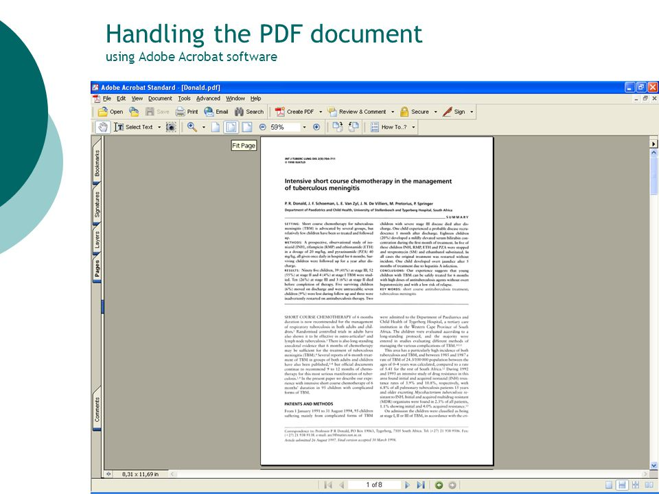 45 Handling the PDF document using Adobe Acrobat software