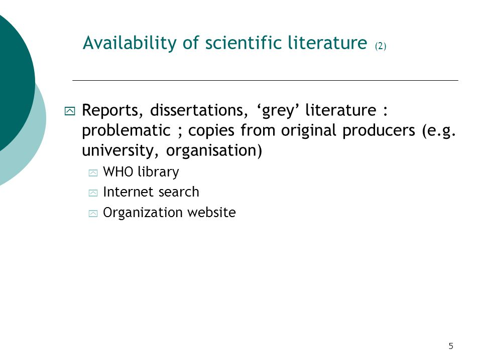 6 Availability of scientific literature (3) ITG catalogs and databases http://lib.itg.be/webspirs.htm Click on Webspirs 5 and Ok
