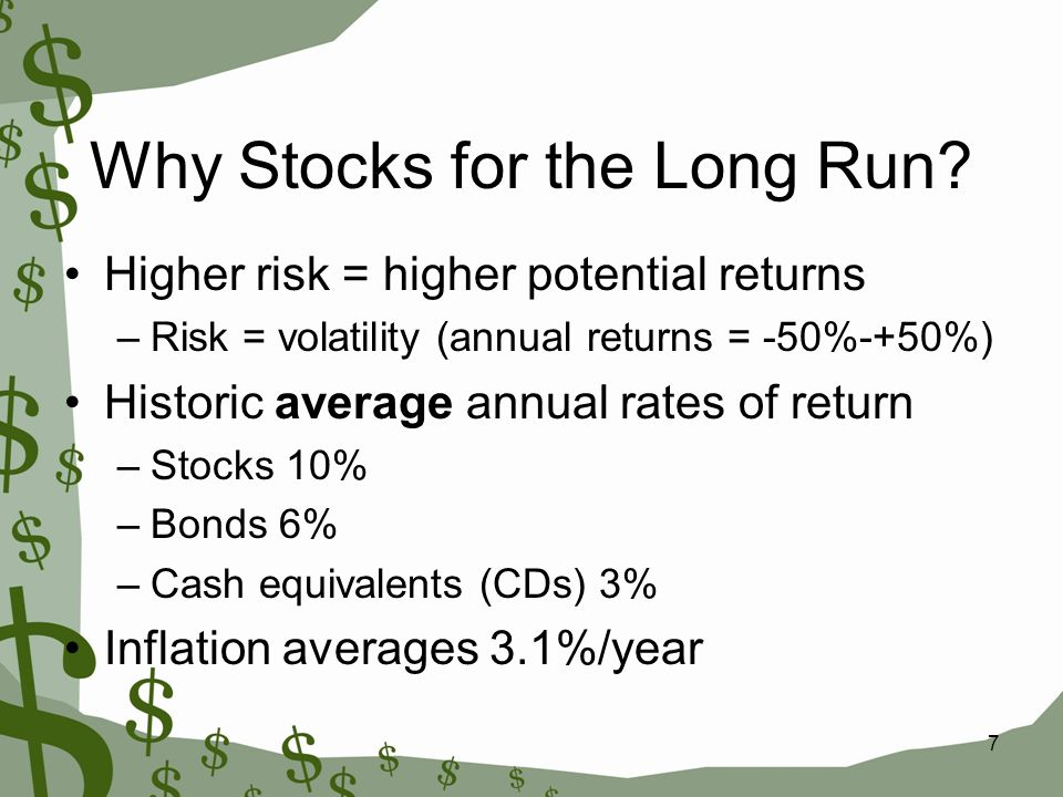 7 Why Stocks for the Long Run.