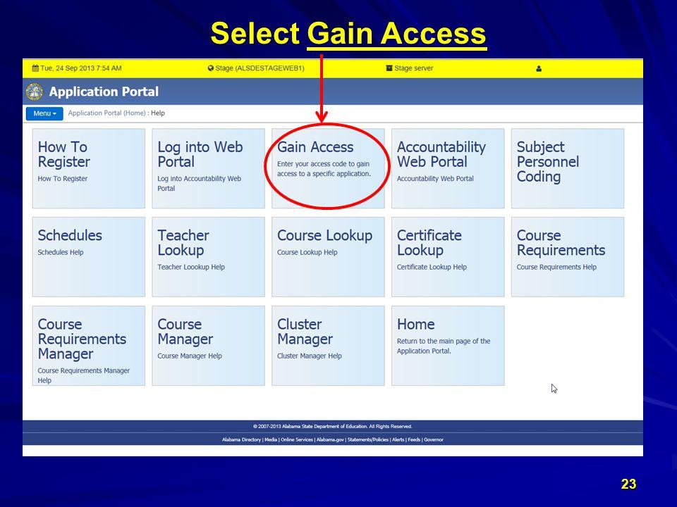 23 Select Gain Access