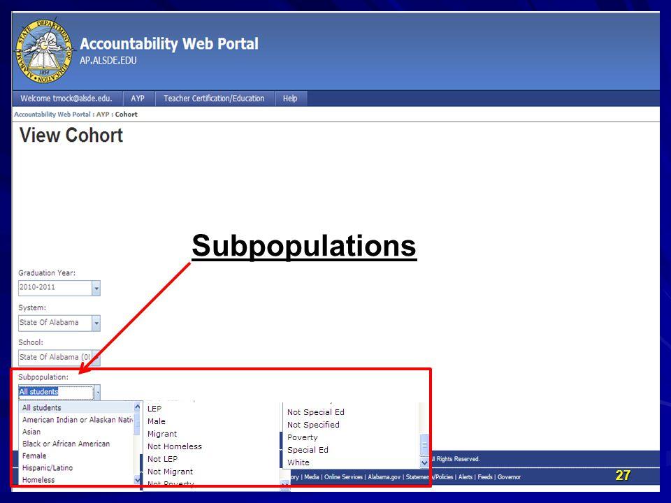 P Subpopulations 27