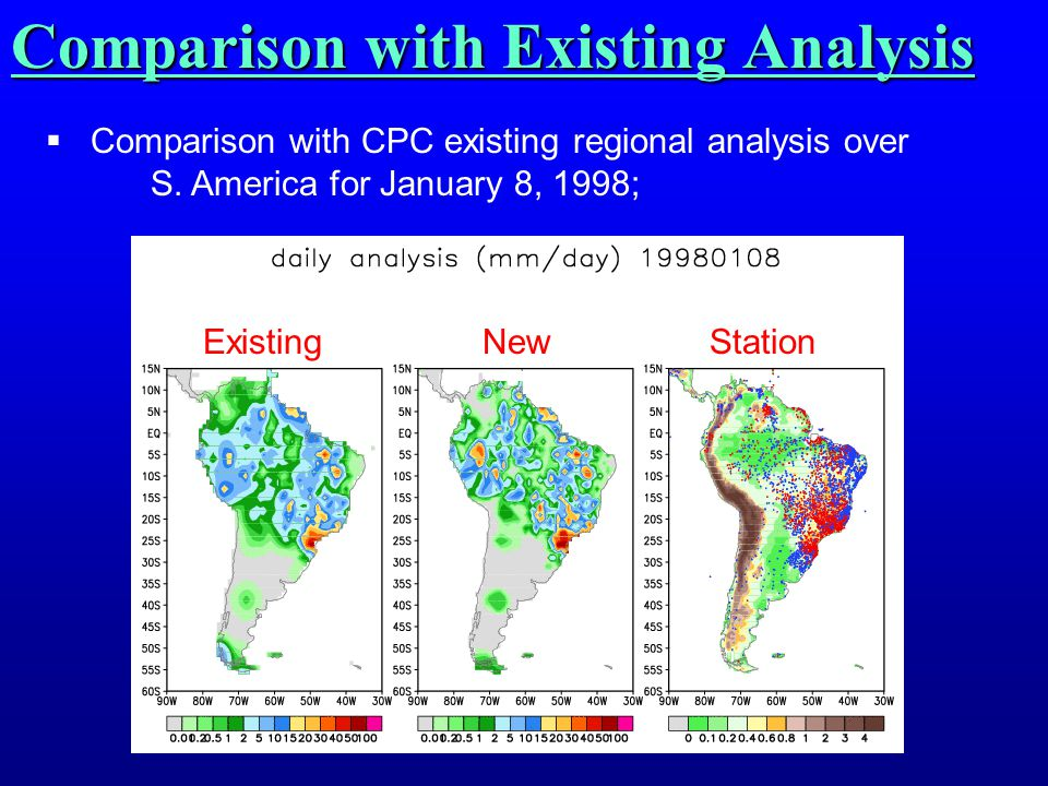Comparison with Existing Analysis  Comparison with CPC existing regional analysis over S.