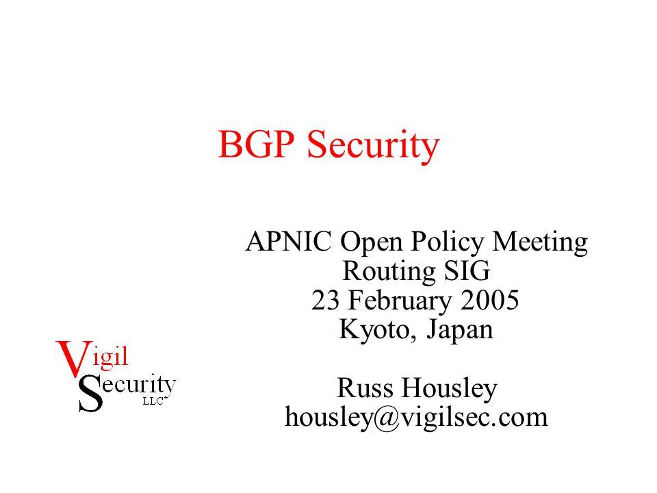Is BGP Under Attack.