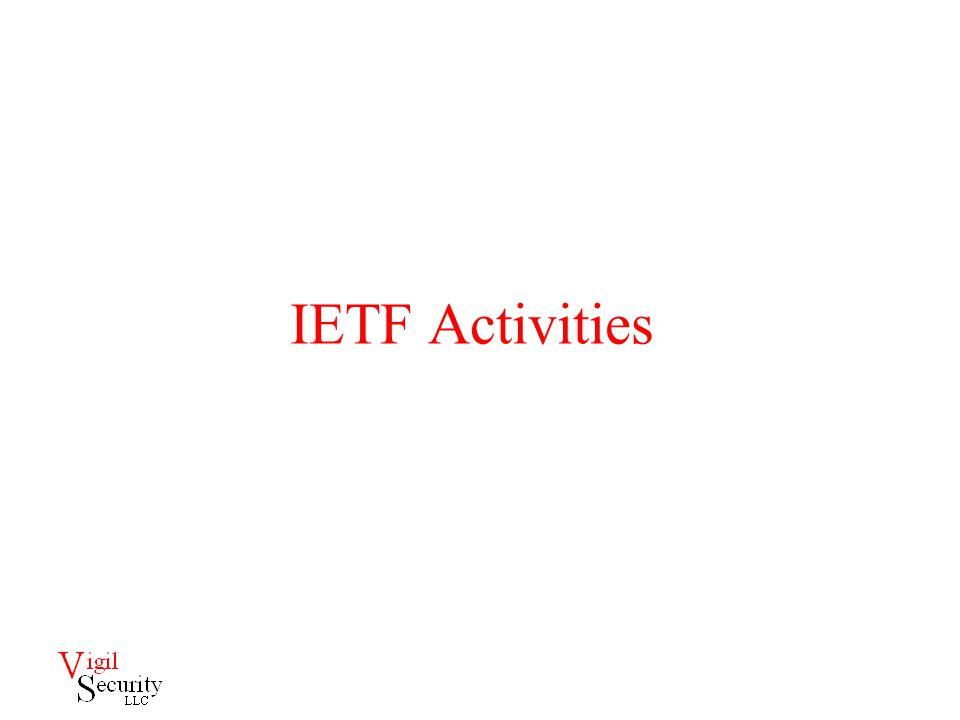 IETF Activities