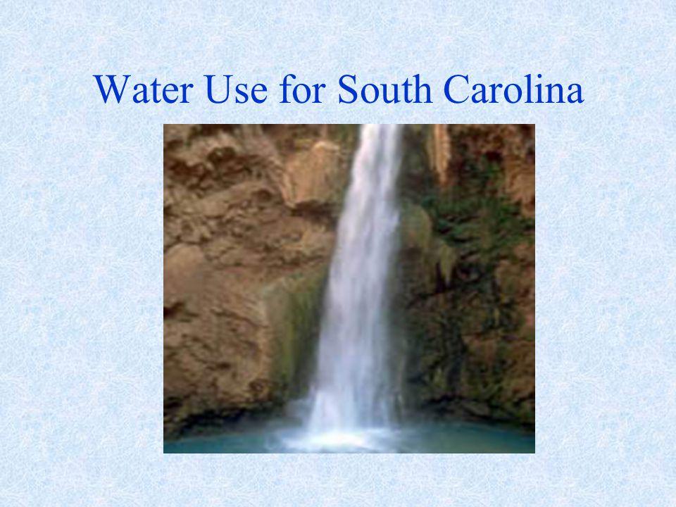 Water Use for South Carolina