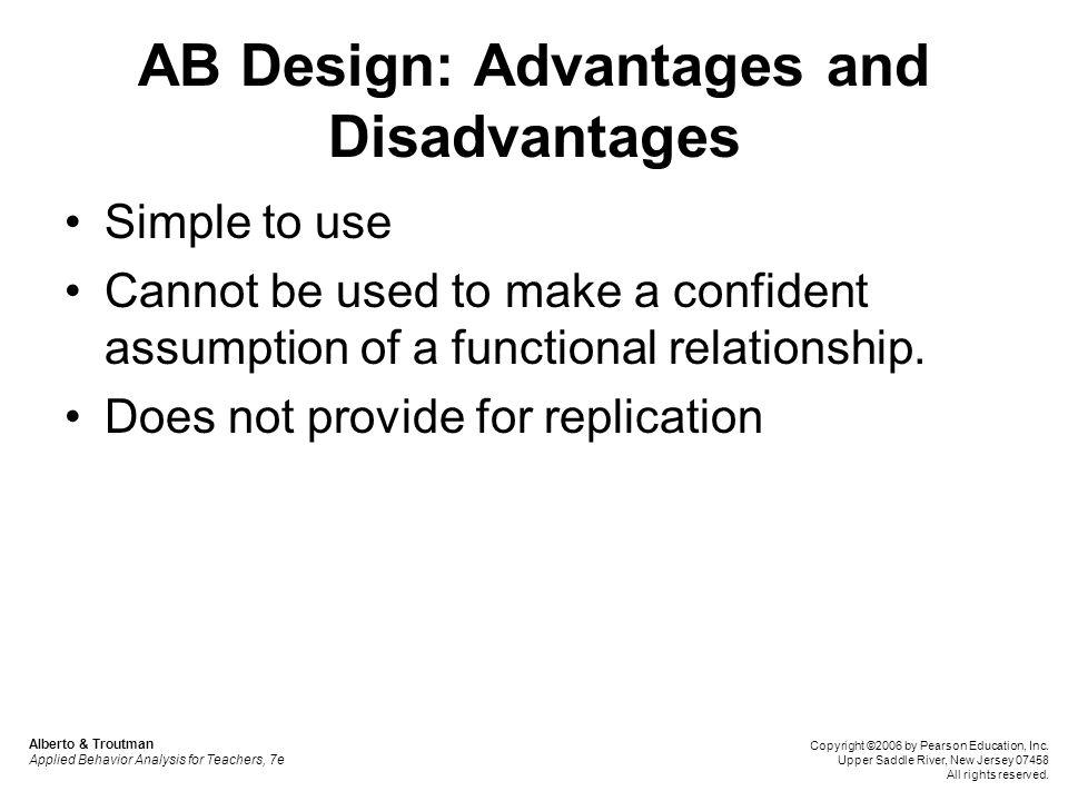 Alternating Treatments Design Alberto & Troutman Applied Behavior Analysis for Teachers, 7e Copyright ©2006 by Pearson Education, Inc.