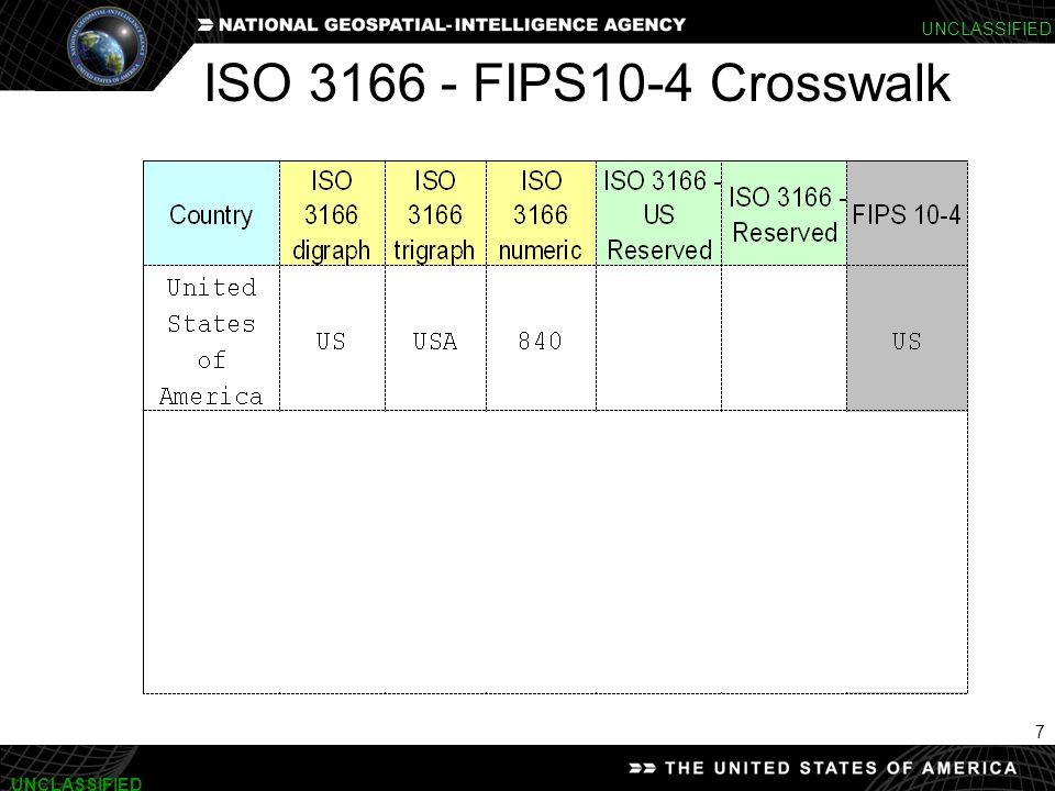 7 UNCLASSIFIED ISO 3166 - FIPS10-4 Crosswalk