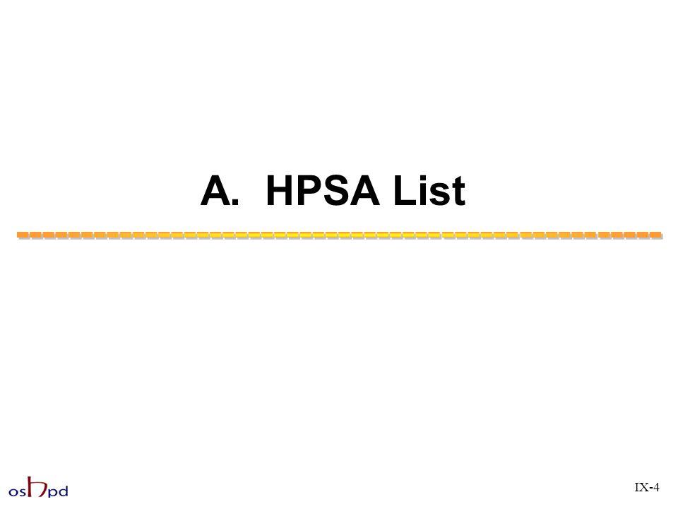 A. HPSA List IX-4