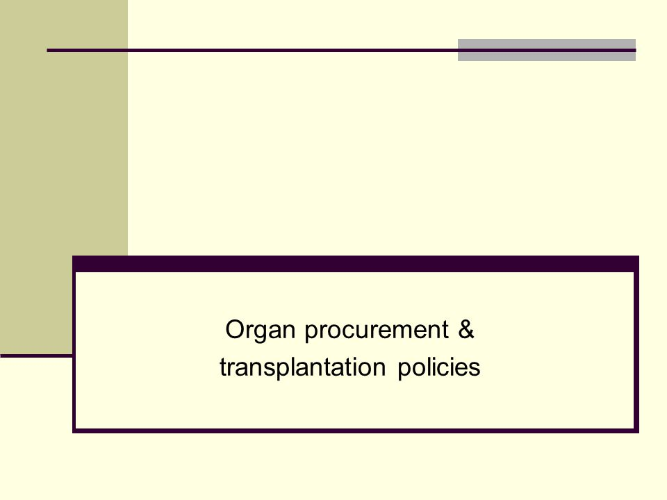 Two Issues: Organ Procurement & Transplantation Network (OPTN) OPTN's failure to protect individuals and families from being contacted and even pressured by organ procurement organizations (OPOs) prior to a decision that life support will be withdrawn OPTN s failure to establish protocols to ensure that organs are not procured before a conscious potential donor has received appropriate psychological counseling and support to live