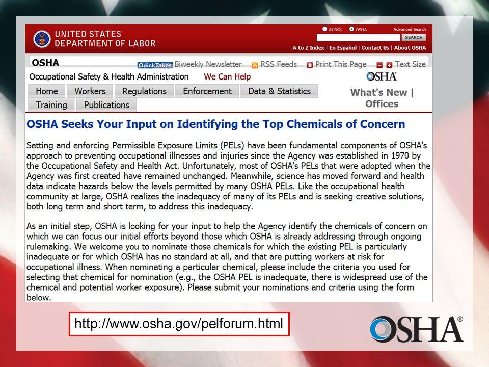 http://www.osha.gov/pelforum.html