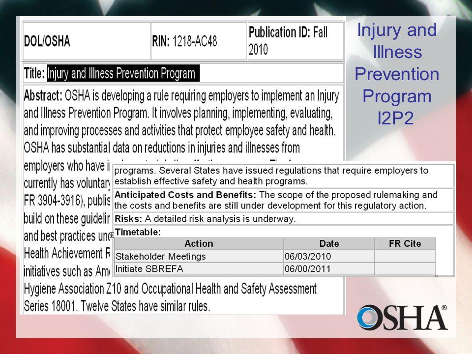 Injury and Illness Prevention Program I2P2