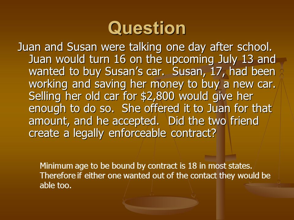 Question Juan and Susan were talking one day after school.