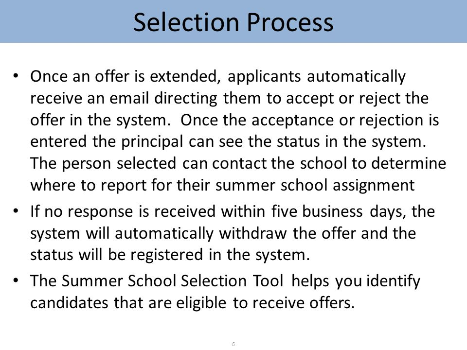 Support The HR Partners in the ISCs/CFNs will serve as support to the Principals for problems with the selection tool.