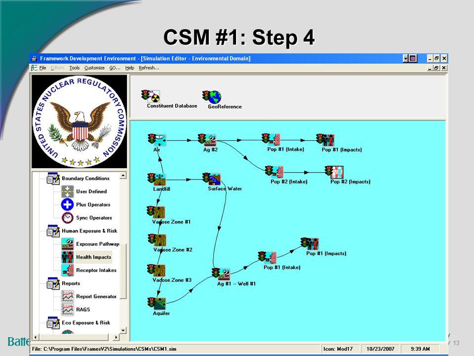 13 CSM #1: Step 4