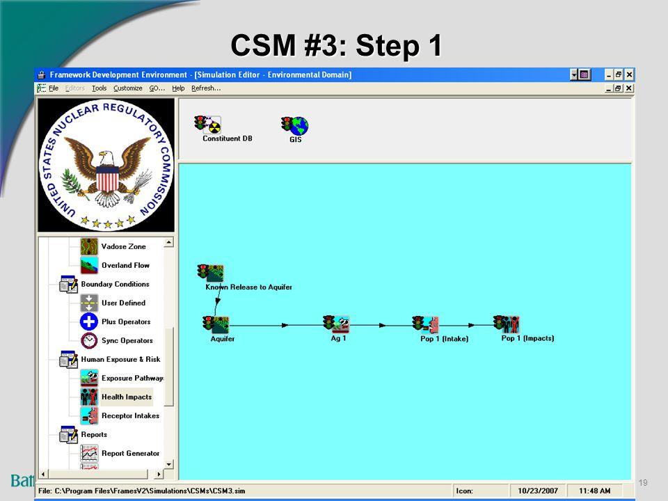 19 CSM #3: Step 1
