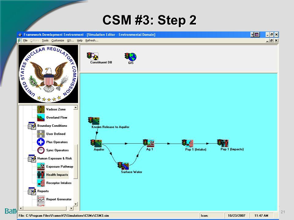 21 CSM #3: Step 2