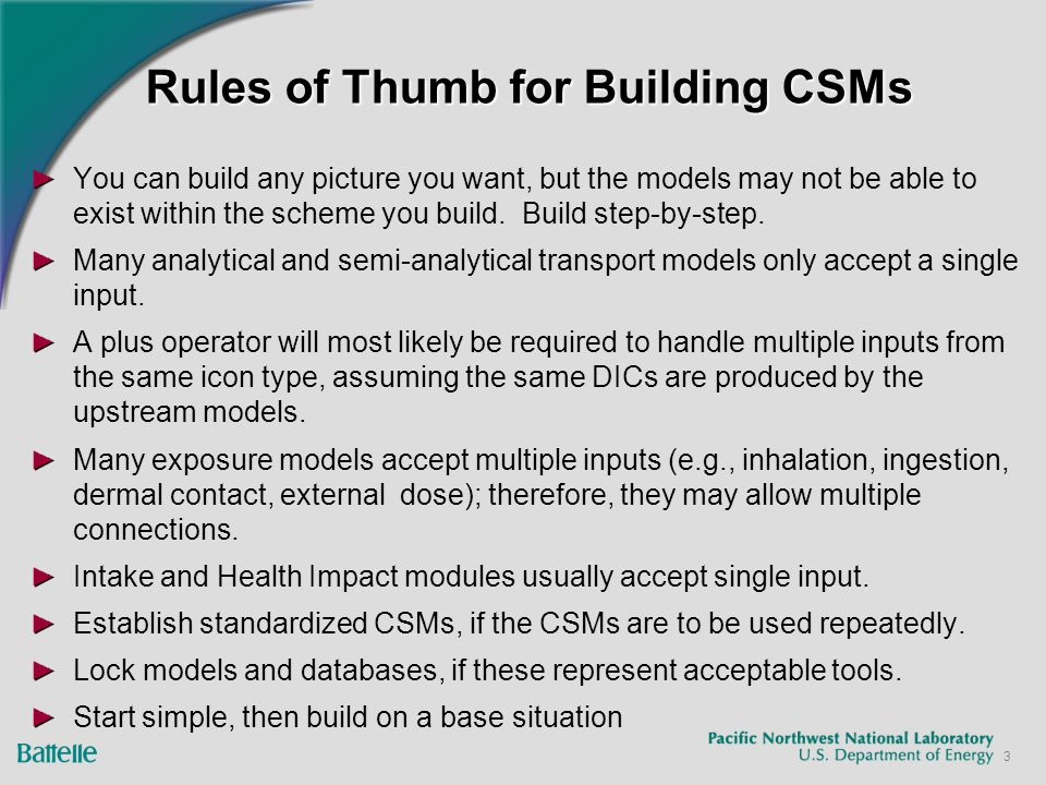 3 Rules of Thumb for Building CSMs You can build any picture you want, but the models may not be able to exist within the scheme you build.