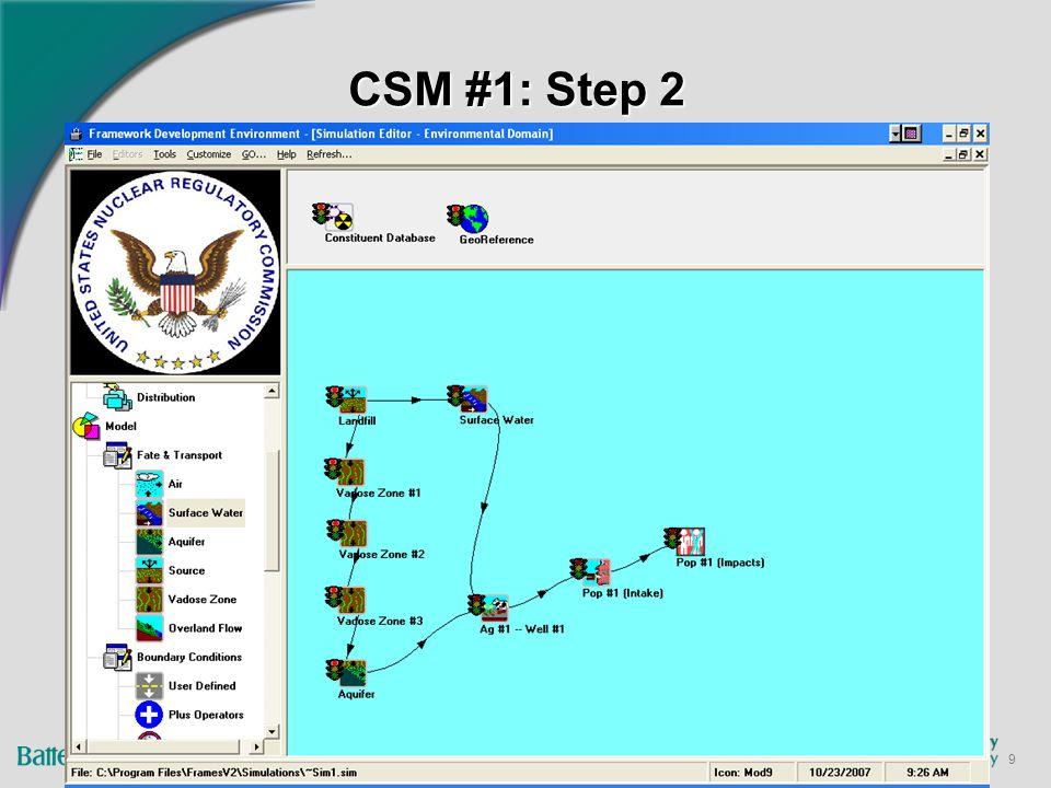 9 CSM #1: Step 2