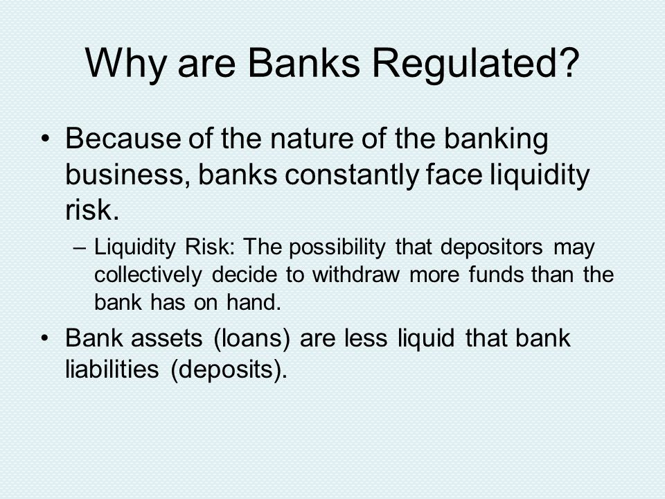 Effects of Lender of Last Resort The confidence brought by the knowledge that the central bank will provide liquidity in the case of a bank run, can actually reduce the chance that a bank run will occur.