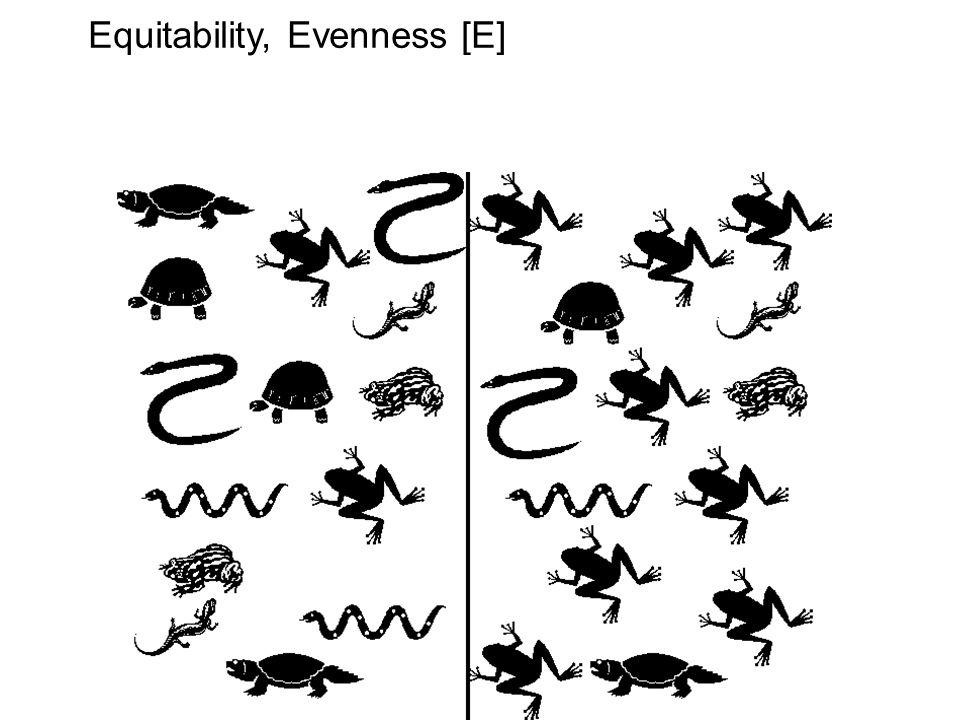 Equitability, Evenness [E]