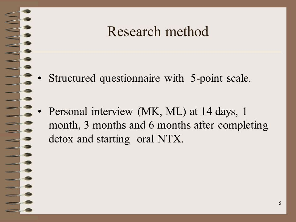 8 Research method Structured questionnaire with 5-point scale.