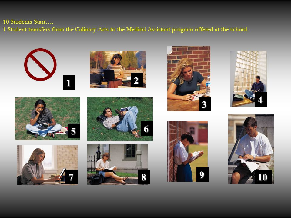 10 Students Start….