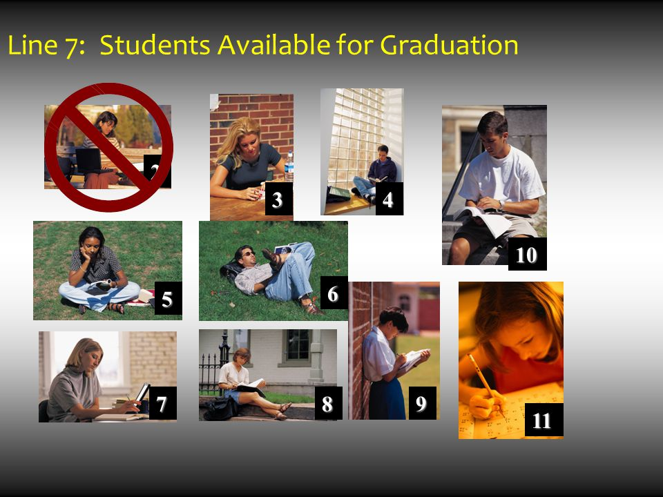2 5 7 6 8 3 9 10 4 11 Line 7: Students Available for Graduation
