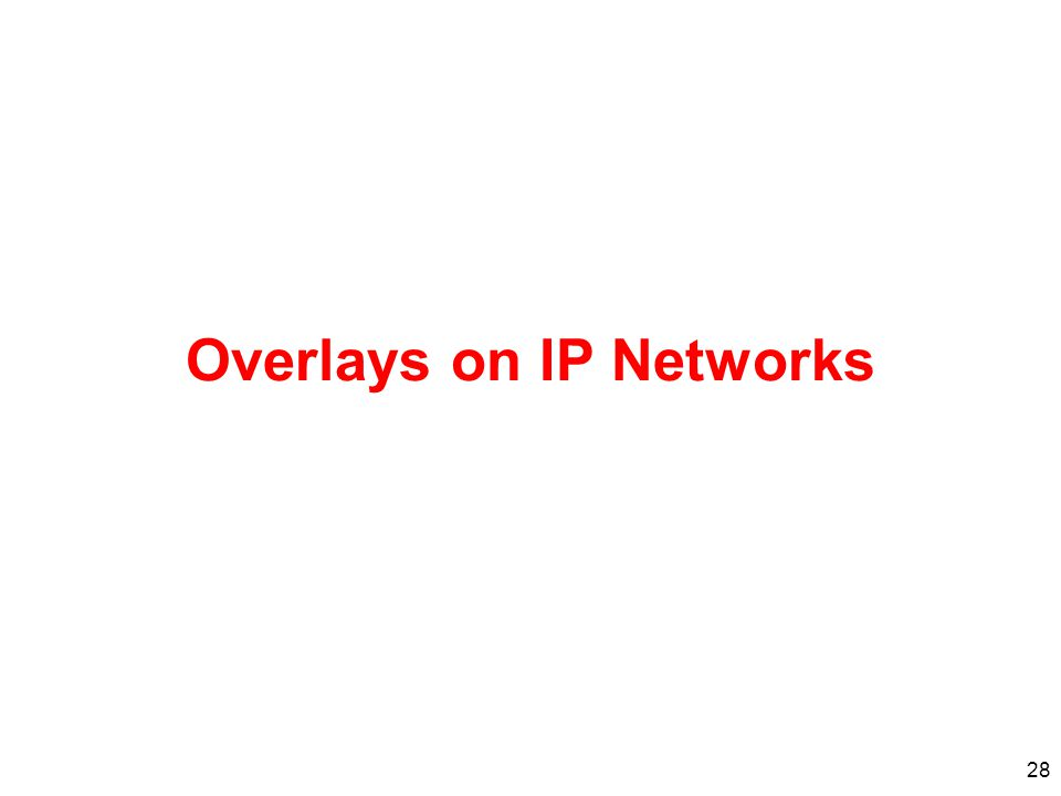28 Overlays on IP Networks