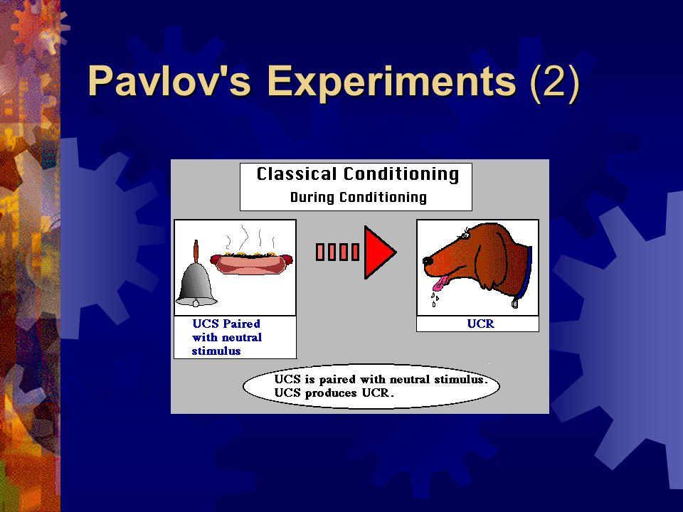 Pavlov s Experiments (2)