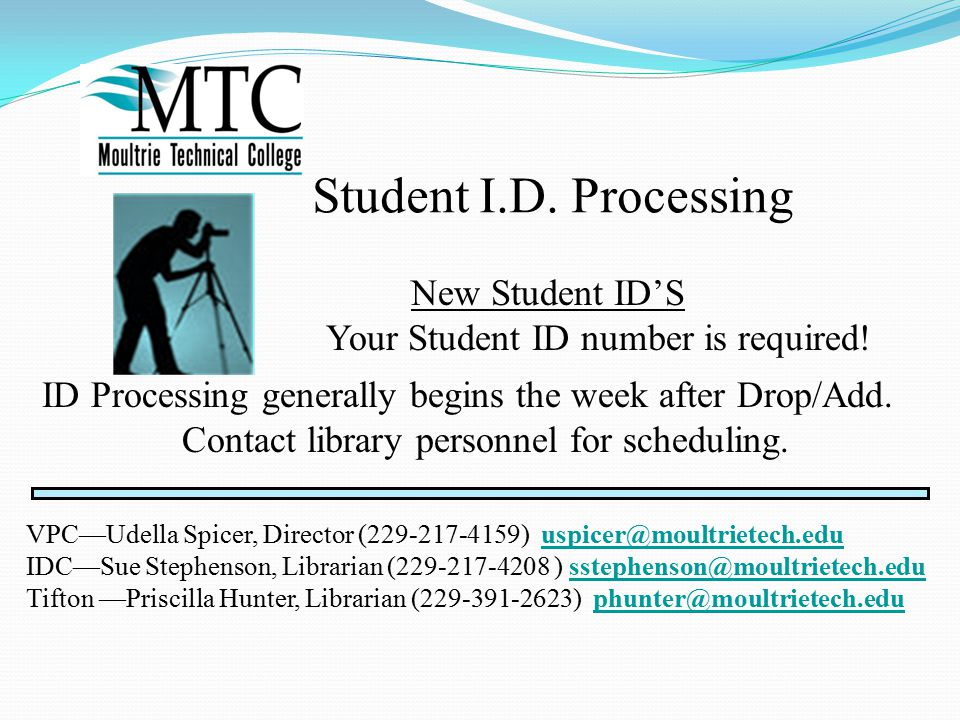 Student I.D. Processing New Student ID'S Your Student ID number is required.