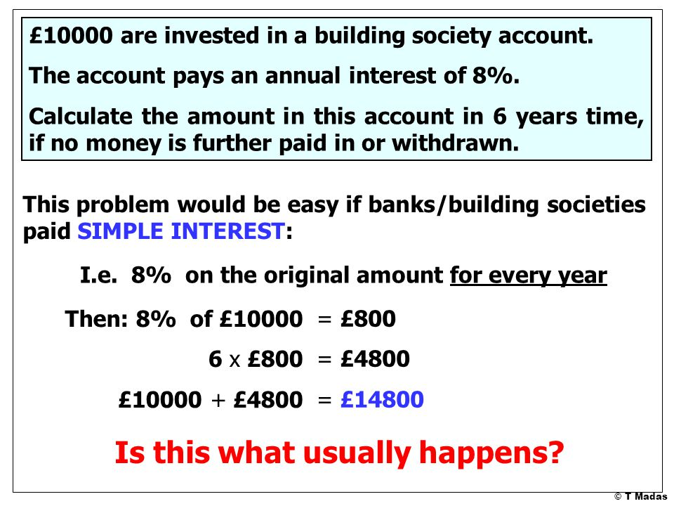 How many years will it take £100 to double in value when invested at: 1.