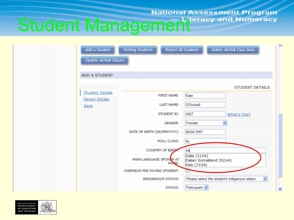 1.You need to add all these fields and press 2.Leave Parent details blank and press 3.Press Save Student Management