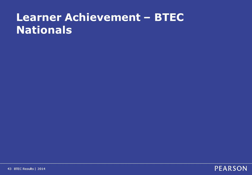 BTEC Results | 201443 Learner Achievement – BTEC Nationals