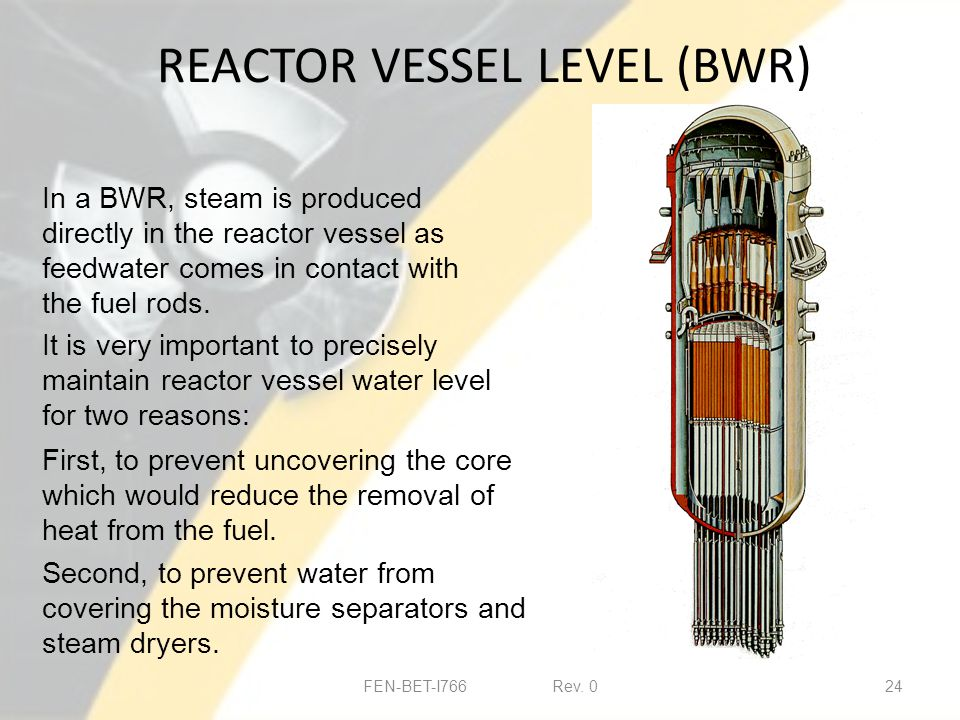 REACTOR VESSEL LEVEL (BWR) FEN-BET-I766 Rev.