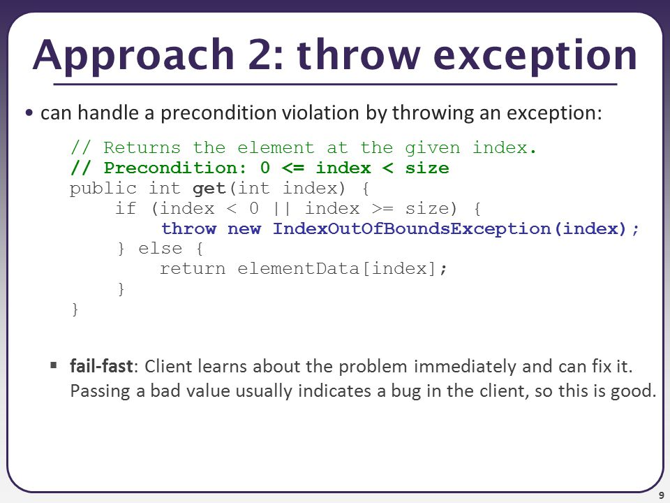 10 Exceptions in the contract from java.util.Stack : public E pop()  Removes the object on top of this stack and returns it.