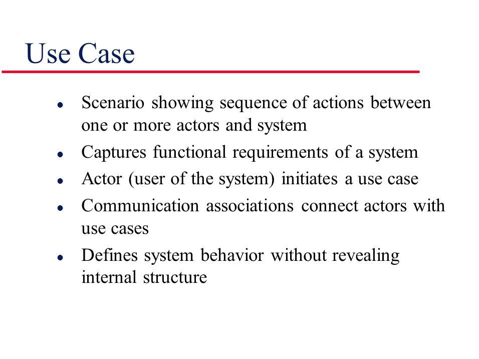 UML Notation for Use Case Generalization Communication association System
