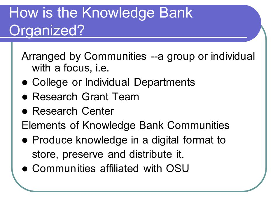 What Computer Platform does the Knowledge Bank use.