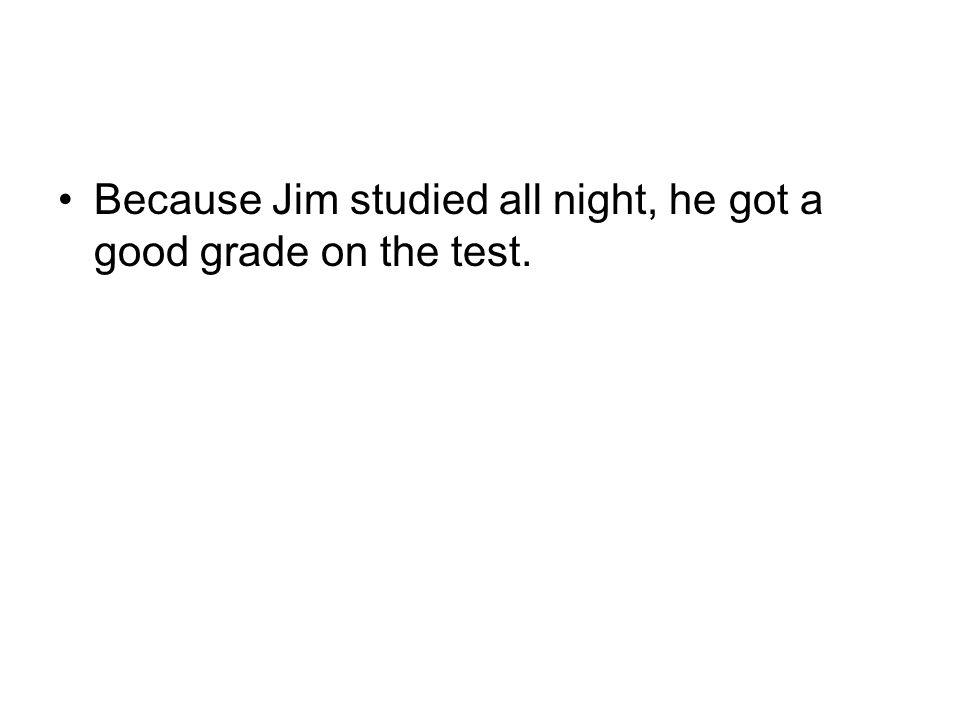 Even though Jim studied all night, he got a _________ grade on the test.