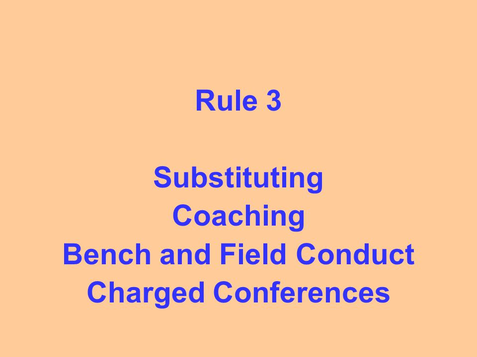 Substitution What is the Re-Entry Rule.
