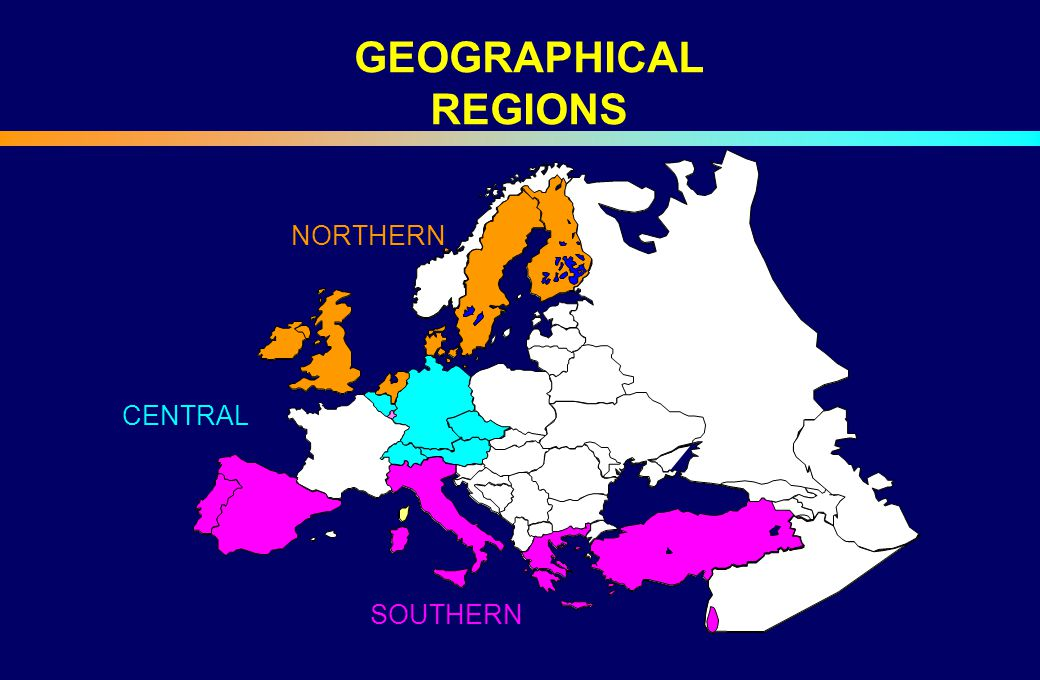 CENTRAL NORTHERN SOUTHERN GEOGRAPHICAL REGIONS