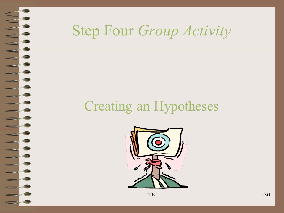 TK30 Step Four Group Activity Creating an Hypotheses