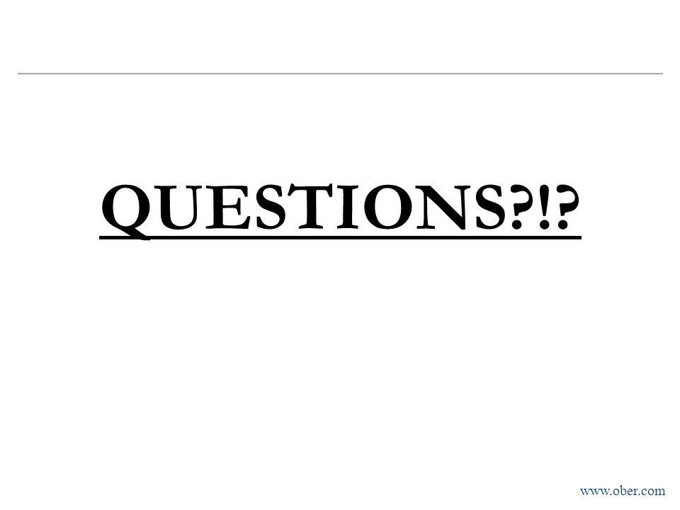 www.ober.com QUESTIONS?!?
