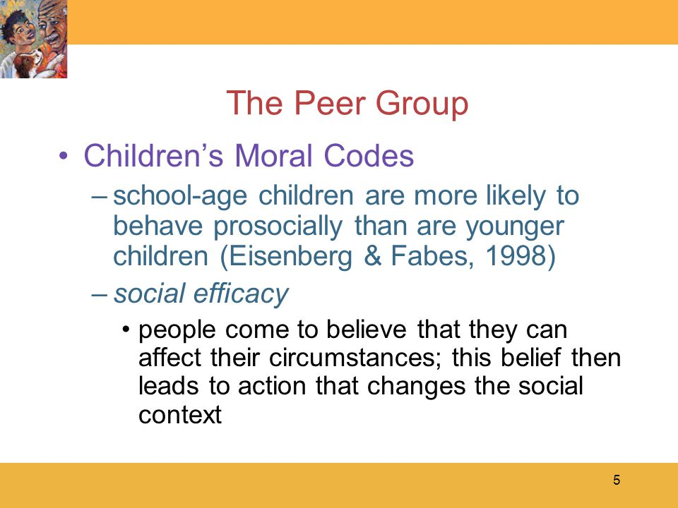 6 The Peer Group Stages of Moral Reasoning –Kohlberg's described three levels of moral reasoning: Preconventional moral reasoning –rewards and punishments Conventional moral reasoning –social rules Postconventional moral reasoning –moral principles