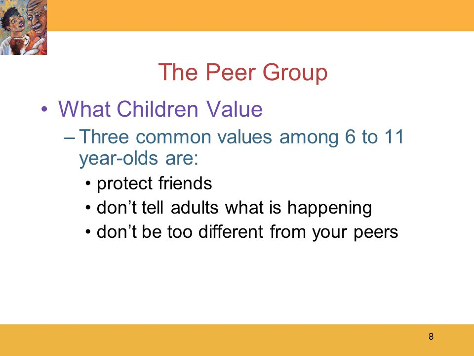 9 The Peer Group Social Acceptance –Aggressive-Rejected rejected by peers because of antagonistic, confrontational behavior –Withdrawn-Rejected rejected by peers because of timid, withdrawn, and anxious behavior