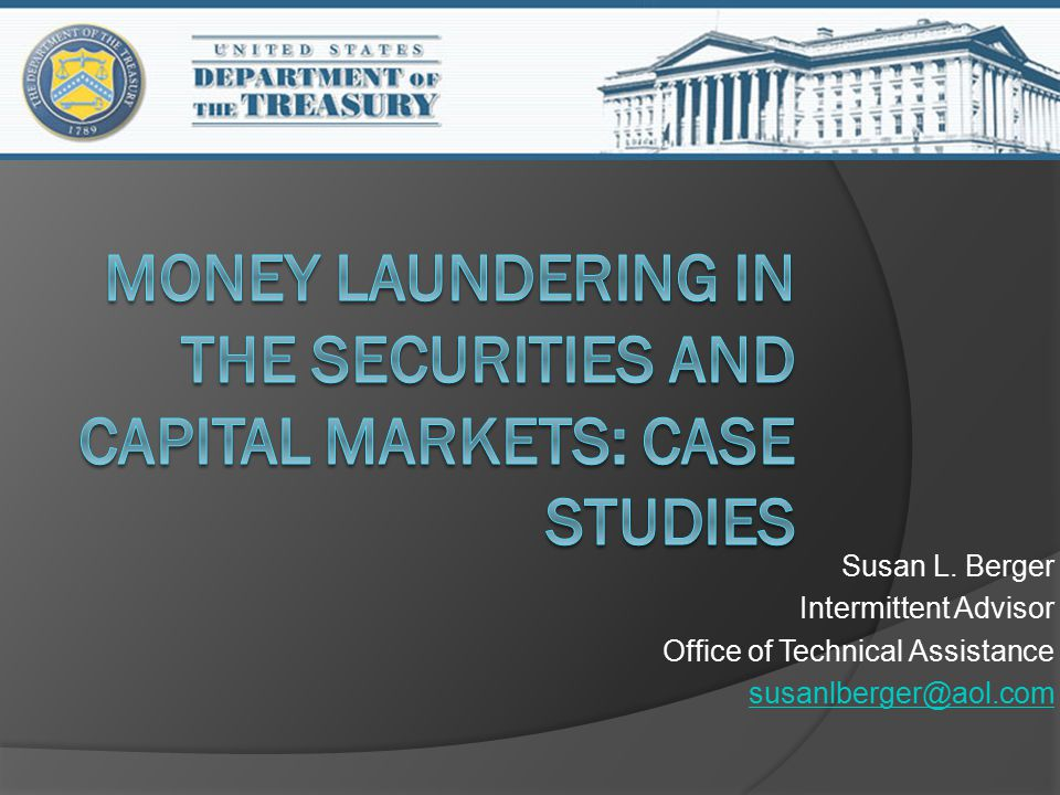 Actual Examples of how money laundering happens in the securities and capital markets Or Actual Cases brought by Regulators against securities firms