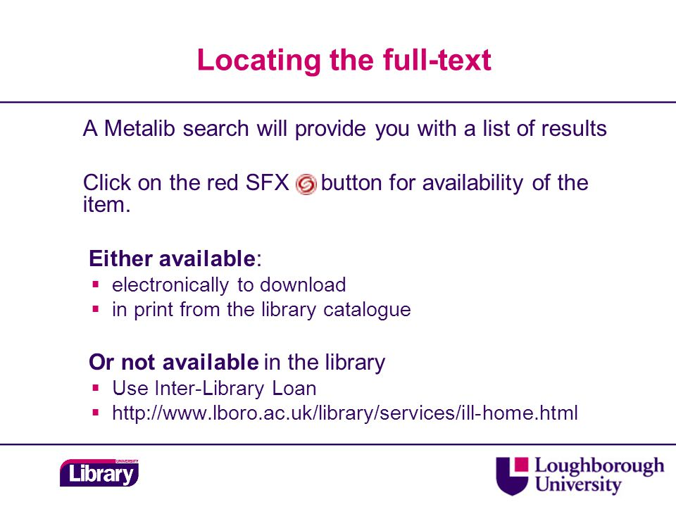 Standards  Two full-text online services:  British Standards (incl.