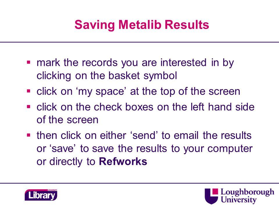 British Standards  Metalib – locate via Find Database  British Standards – ATHENS U & P  Remember the YELLOW BOX!.