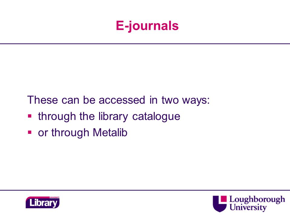 Access and searching  Via MetaLib – locate in Civil Engineering subject category or use Find Database  Available both on and off-campus  Off-campus login to Remote Working Portal: https://vpn.lboro.ac.uk/  Search by: Quick or Advanced options  Browse – powerful functionality.